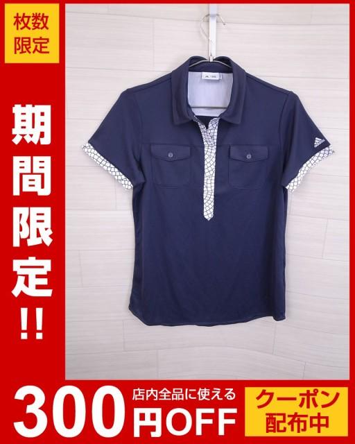 adidas(アディダス)メッシュポロシャツ/半袖/紺/...