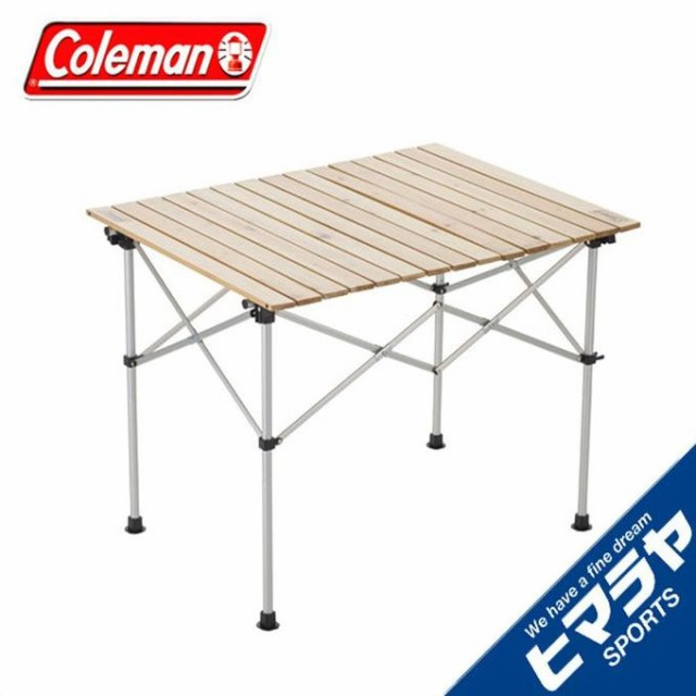 コールマン アウトドアテーブル 大型テーブル ナチュラルウッドロールテーブル/90 2000031290 coleman od
