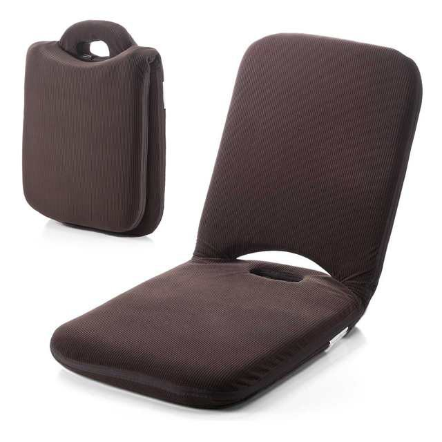 折りたたみ 座椅子 マイクロファイバー生地 2層構...