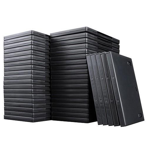 DVDトールケース 1枚収納  厚さ14mm 50枚セット D...