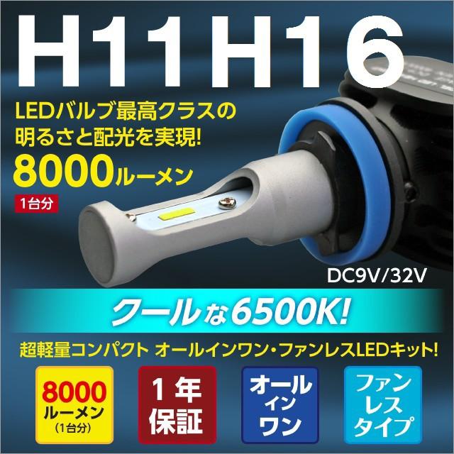 車検対応 8000LM  H16 H11 LEDフォグランプ H16 H...