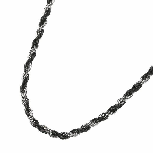 【細め】 2カラー ロープ スチールチェーン 45cm/...
