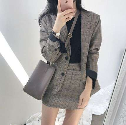 春新作 セットアップ 韓国 ファッション レディー...