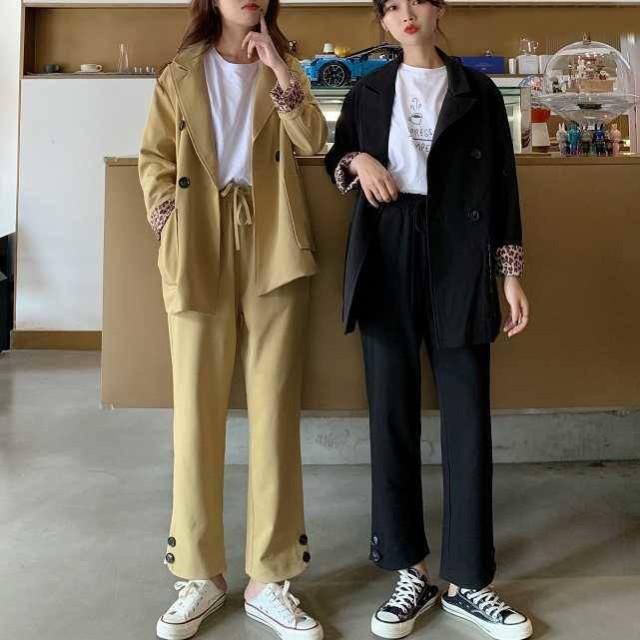 韓國 スーツ パンツスーツ 春 レディース セット...