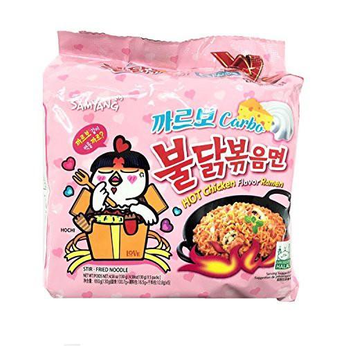 ★韓国麺1位獲得★カルボブルダック炒め麺130gx4...