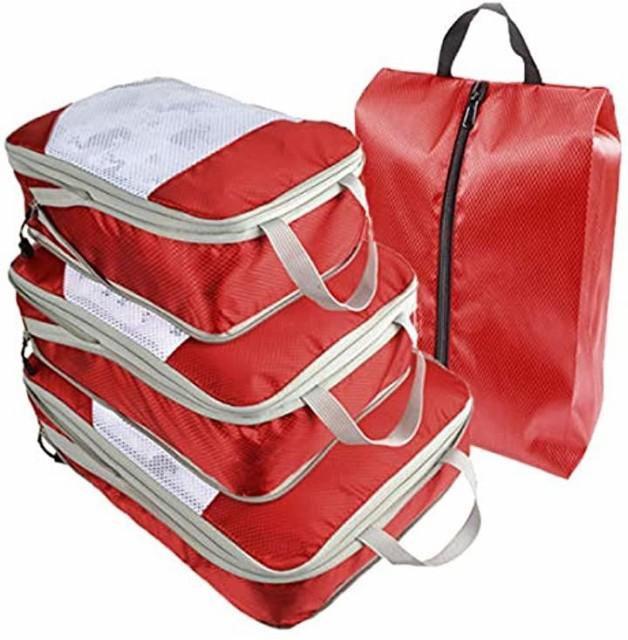旅行 圧縮バッグ 4点セット トラベル 圧縮袋 トラ...