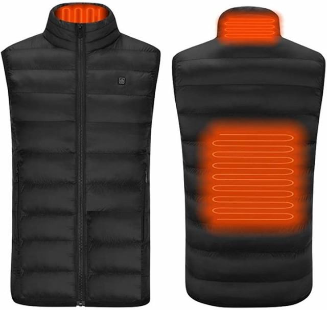 LTENG 電熱ベスト 電熱ジャケット 電熱服 保温 防...