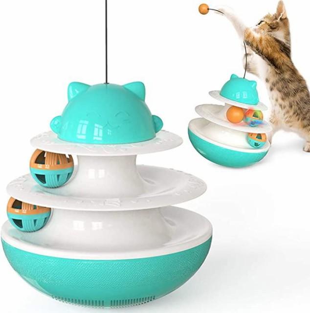 猫おもちゃ 回転ボール 遊ぶ盤 ペット猫じゃらし ...