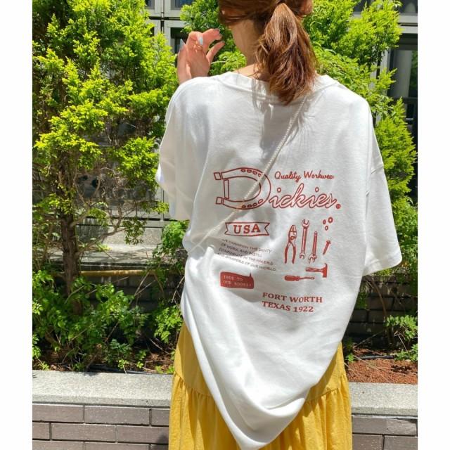 ビス/【別注カラー:ラベンダー】【Dickies】ロゴプリントビッグTシャツ