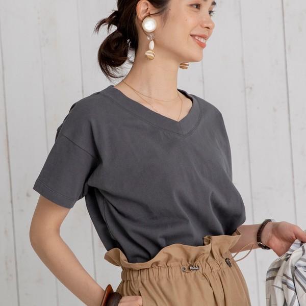 コーエン/【WEB限定カラー】UVカット機能付きUSAコットンVネックTシャツ#