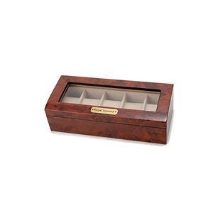 送料無料 木製時計収納ケース 5本収納 ブラウン 1...