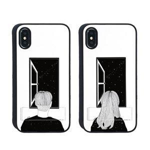 送料無料 Dparks iPhone XR Spirit case 窓際の男...