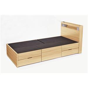 送料無料 高梨産業 木製ベッド(引出し5個付) ナ...
