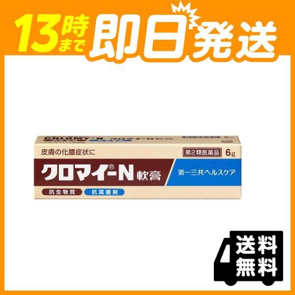皮膚薬 市販 クロマイ −N軟膏 6g 第2類医薬品 ...