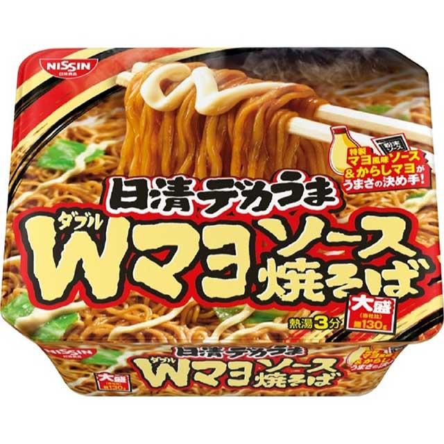 日清デカうま Wマヨソース焼そば 153g×12食 日清食品 まとめ買い ケース販売 インスタント カップ麺 カップ焼きそば