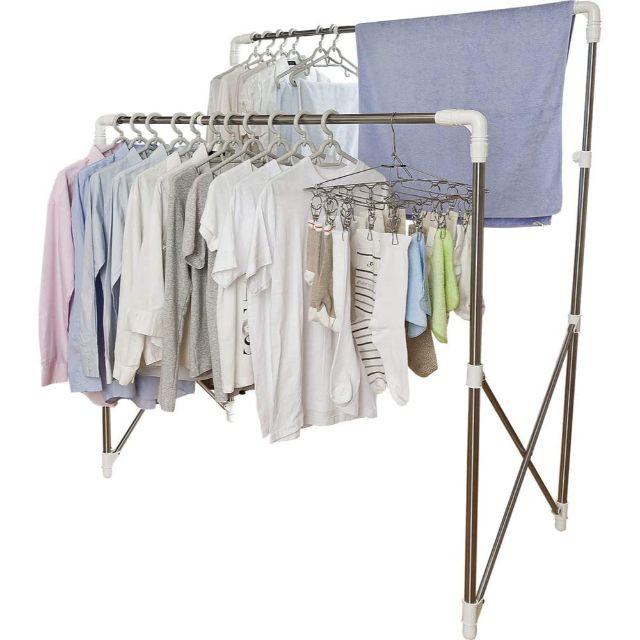 アイリスオーヤマ 洗濯物干し 布団干し 室内物干し 約4人用 多機能物干し 簡単組み立て 伸縮タイプ 幅97~150cm SMH-150R