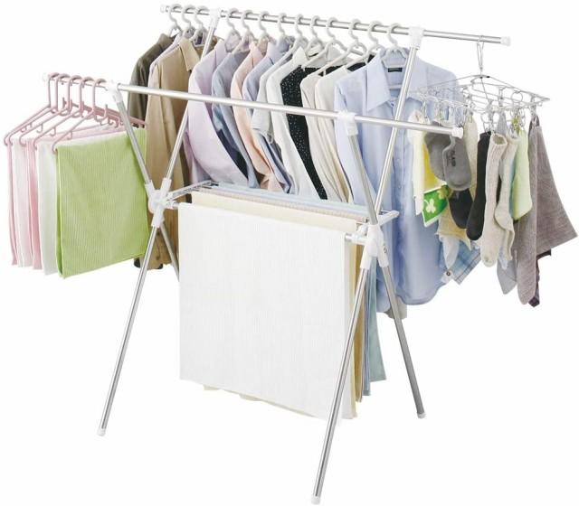 アイリスオーヤマ スタンド 物干しスタンド 洗濯物干し 布団干し 室内物干し 約5人用 簡単組み立て室内物干し ステンレス 伸縮タイプ 折