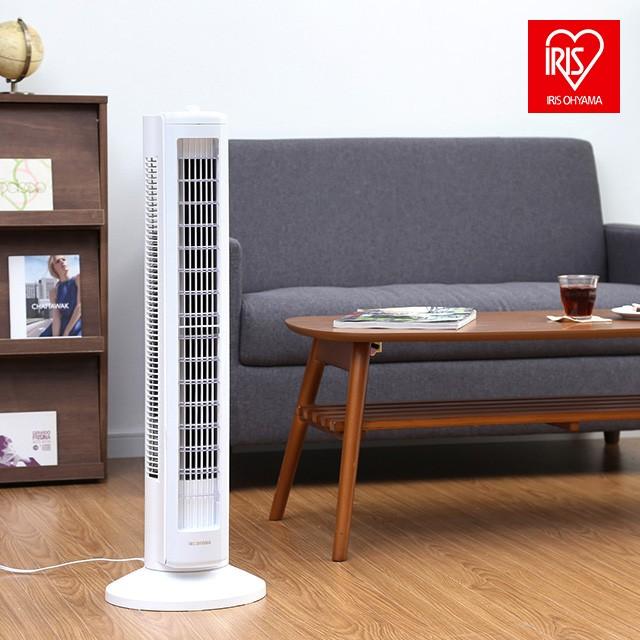 扇風機 タワーファン アイリスオーヤマ TWF-D82T 軽量 左右首振り 上下ルーバー 縦型 スリム 冷房 静音 換気 省エネ