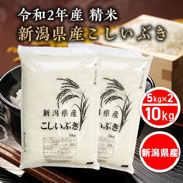 米 お米 令和2年産 精米 10kg(5kg×2) こしいぶ...