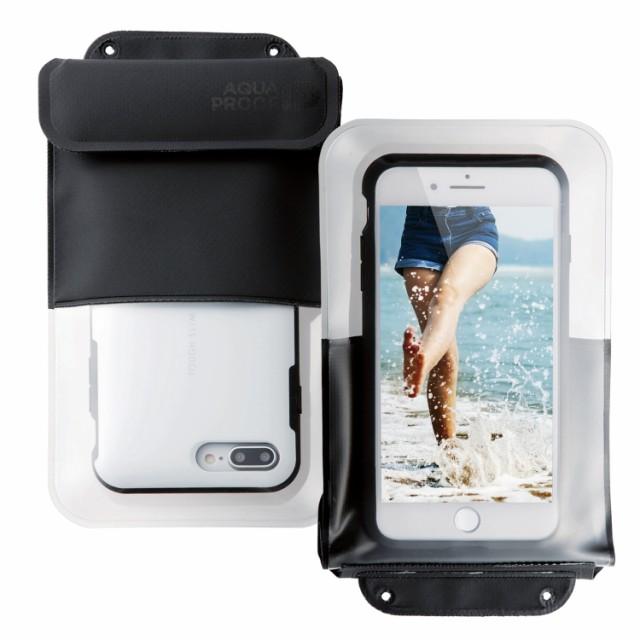エレコム スマートフォン用防水・防塵ケース/ポケット付/XLサイズ/ブラック/ブラック エレコム