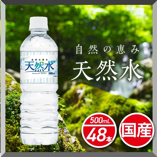 水 自然の恵み天然水 500mL×24本 2ケース /計48本 飲用水 まとめ買い ケース販売