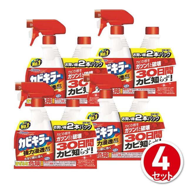 洗剤カビキラー ペアパック 本体400g+詰替400g 4...