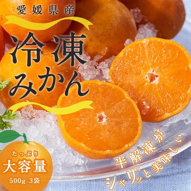 フルーツ 冷凍小玉みかん 訳あり 愛媛県産 500gx3袋 計1.5kg  お得 大容量 冷凍