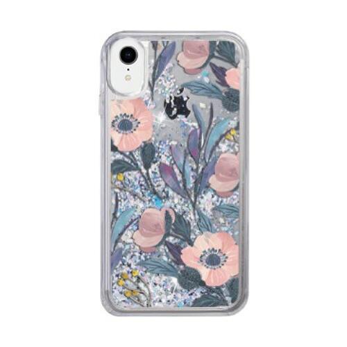 iPhone XR ケース icover Sparkle case Cyan Gard...