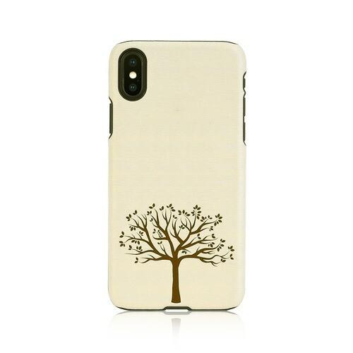 iPhone XS / X ケース天然木 Man&Wood Apple tree...