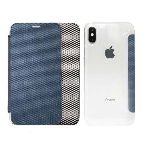 iPhone X ケース ZENUS 背面クリア手帳型ケース Z...
