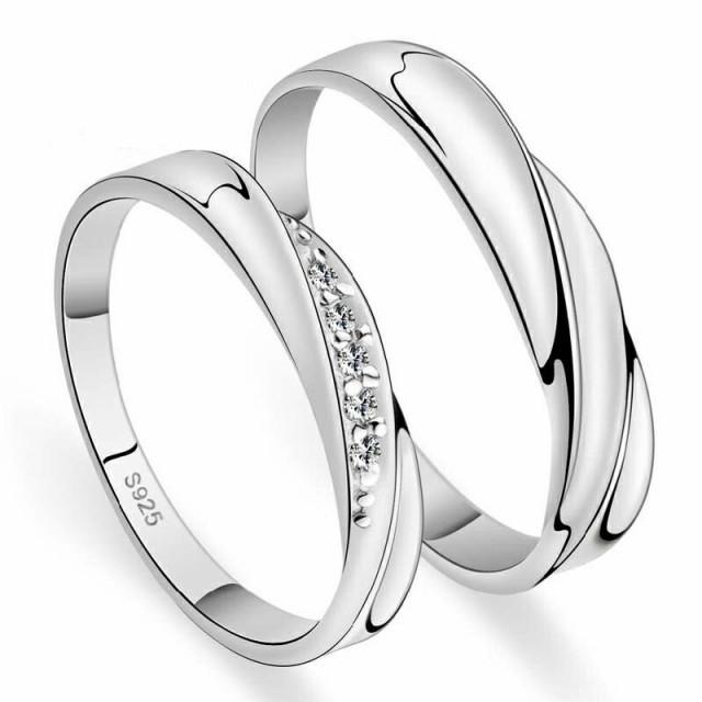 曲線美 ペアリング 純銀 シルバー 925 指輪 女性...