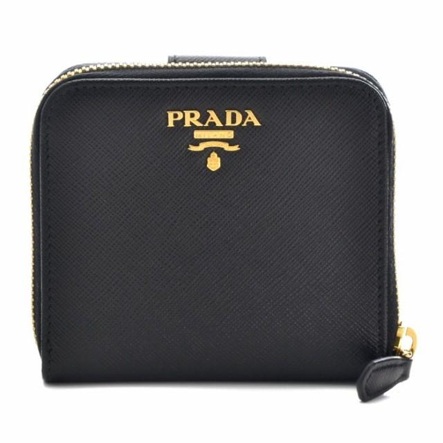 プラダ PRADA サフィアーノ メタル 二つ折り財布 ...
