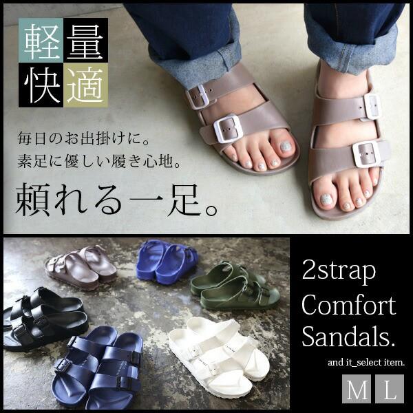 ●BIGSALE●2ストラップコンフォートサンダル【M...