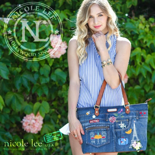 NICOLE LEE ニコールリー JS12487 ネイビーブル...