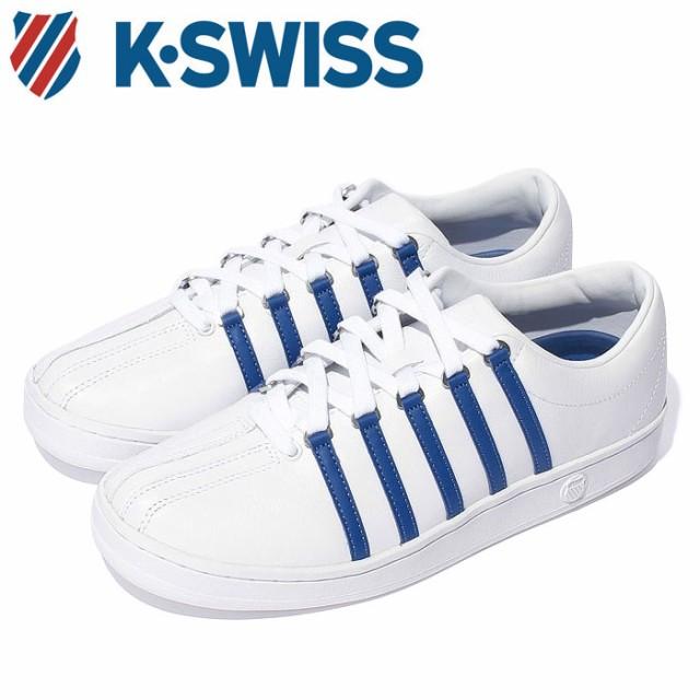 Kスイス ケースイス クラシック 88 メンズ レディース ホワイト ブランナーブルー 白 青 スニーカー レザー テニスシューズ K-SWISS