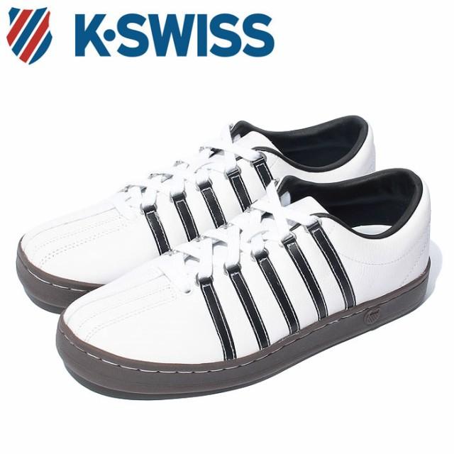 Kスイス ケースイス クラシック 88 メンズ レディース ホワイト ブラウン ガム 白 茶 スニーカー レザー テニスシューズ K-SWISS