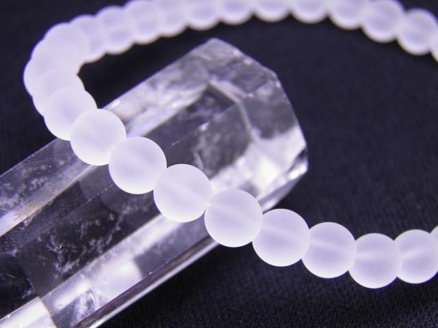 【ENDLESS_6mmブレスレット】 フロスト水晶ブレス...