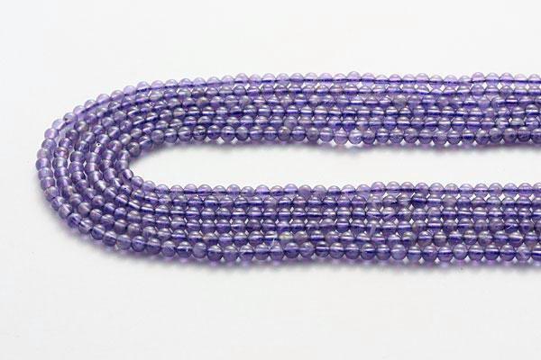 アメジスト(紫水晶) 3mm玉 一連 天然石 パワー...