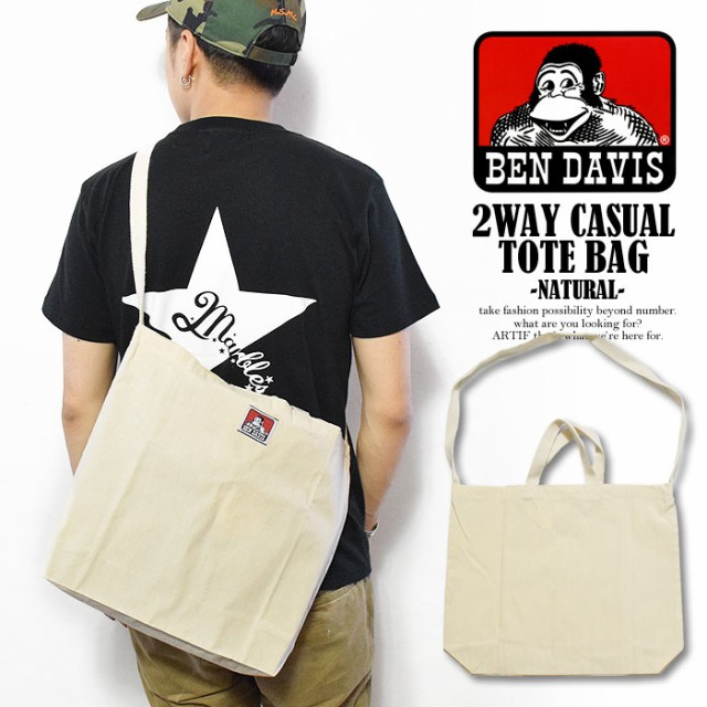 BEN DAVIS ベンデイビス 2WAY CASUAL TOTE BAG -N...