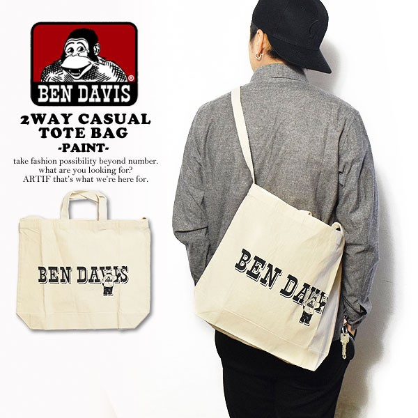 BEN DAVIS ベンデイビス 2WAY CASUAL TOTE BAG -P...