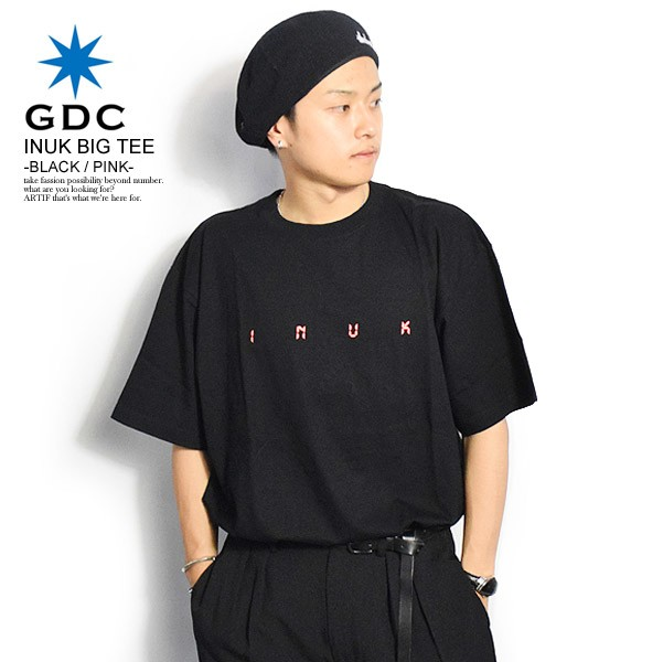 GDC ジーディーシー INUK BIG TEE -BLACK/PINK- ...