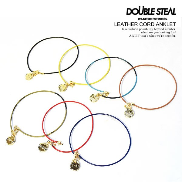 DOUBLE STEAL ダブルスティール LEATHER CORD ANK...