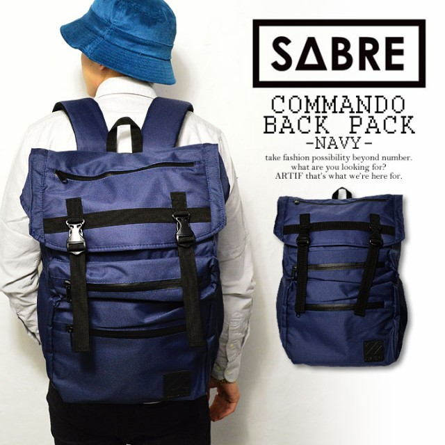 SABRE(セイバー) COMMANDO BACKPACK -NAVY-【メン...