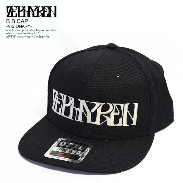 ZEPHYREN ゼファレン B.B CAP VISIONARY -BLACKxW...