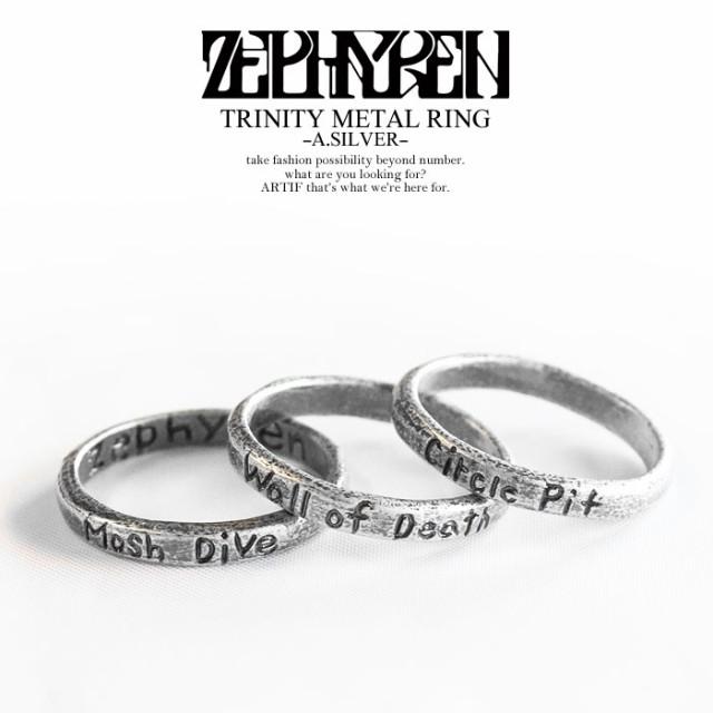 ZEPHYREN ゼファレン TRINITY METAL RING -A.SILV...