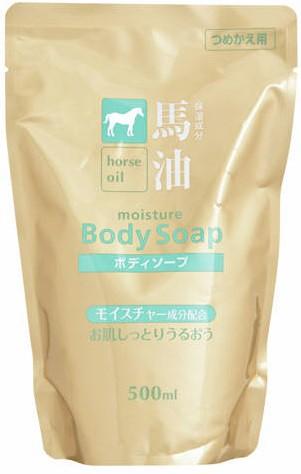 熊野油脂 馬油 ボディソープ 詰替 500ml(ボディー...