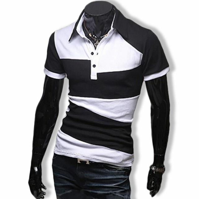 ポロシャツ メンズ Tシャツ カットソー 半袖 無地...