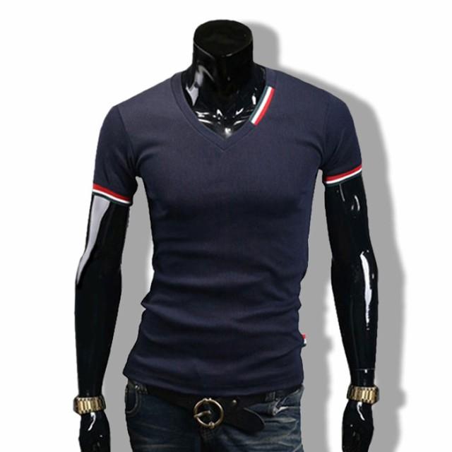 Tシャツ メンズ ストレッチ カットソー 半袖 プリ...
