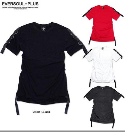 Tシャツ メンズ トップス ロングシルエット ベル...