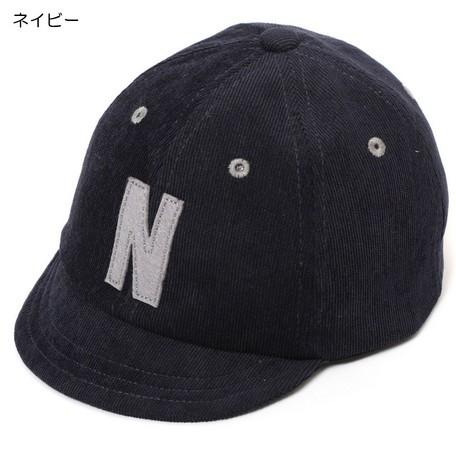 帽子 キッズ 小物 コーデュロイ ロゴ キャップ 子...